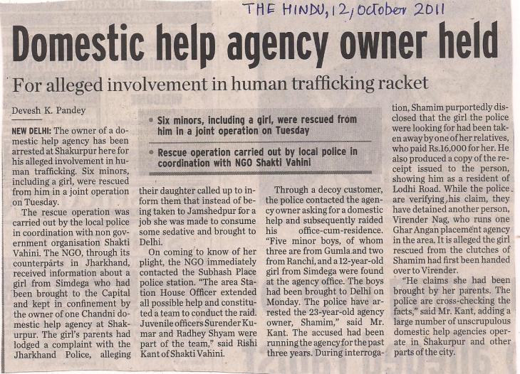 Domestic help agency owner held
