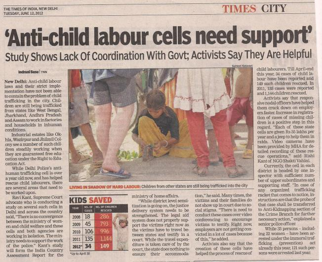 'Anti-child labour cells need support'
