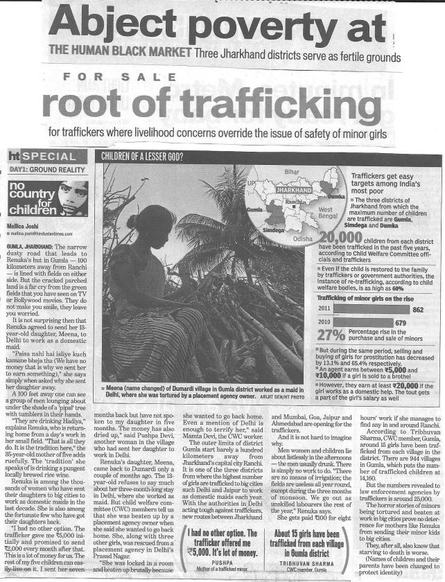 Abject poverty at root of trafficking