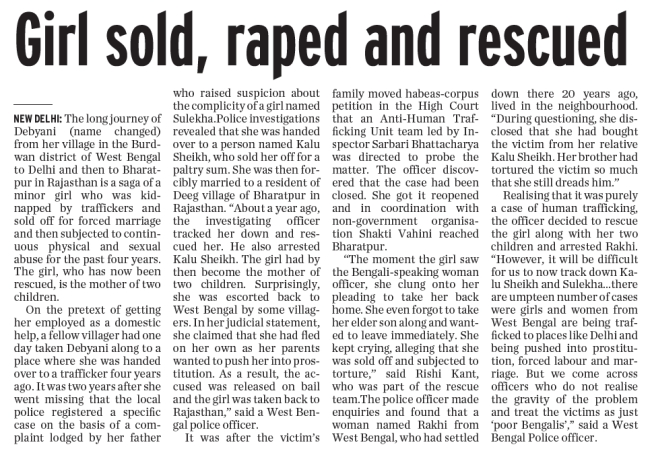 Girl Sold and Raped